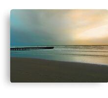 The pier and the beach Canvas Print