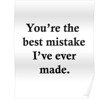Best Mistake Poster
