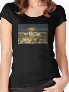 Budapest parliament with dramatic sky Women's Fitted Scoop T-Shirt