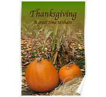 Thanksgiving Day card Poster