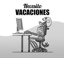 Screaming Skeletons - Necesito Vacaciones (Spanish) by Iker Paz Studio