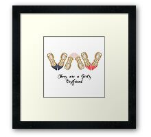 """SHoes are a girl'd best friend"" Framed Print"