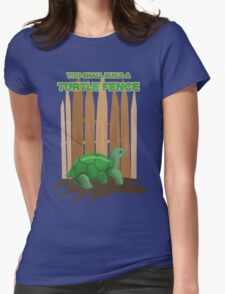 Turtle Fence Womens Fitted T-Shirt