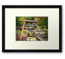 One Lane Covered Bridge at Ponca, Arkansas Framed Print