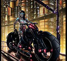 Cyberpunk Painting 062 by Ian Sokoliwski