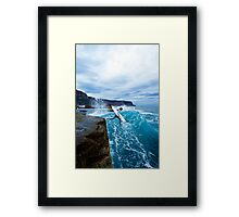 Mike Brennan Ledge Jump Shipstern Bluff Framed Print