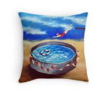 Dive in to fun Throw Pillow