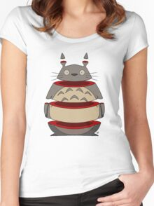 Sliced Totoro Women's Fitted Scoop T-Shirt