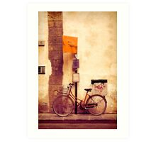 Bicycle red Art Print
