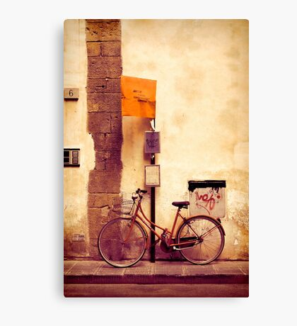 Bicycle red Canvas Print