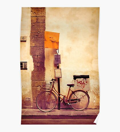 Bicycle red Poster