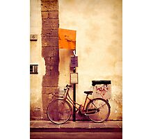 Bicycle red Photographic Print