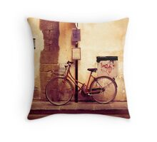 Bicycle red Throw Pillow