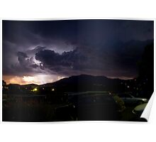 Thunderstorm over Hobart, Tasmania Poster