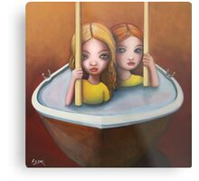 The trouble with water ll Metal Print