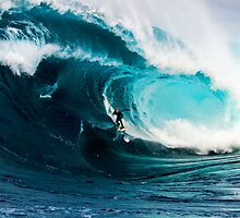 A surfer takes on Shipstern Bluff by andychiz