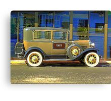 The Old Taxi HDR Canvas Print