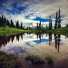 Mt Rainier Reflected in Tipsoo Lake by Jonicool