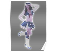 Holographic sailor Poster