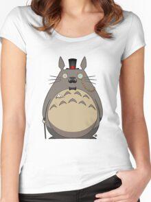 Gentleman Totoro Women's Fitted Scoop T-Shirt