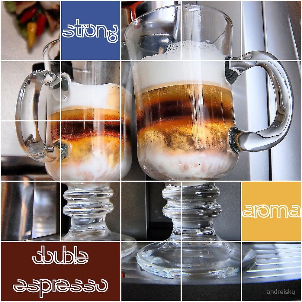 Strong aroma double espresso by andreisky