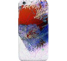 red and blue, through the glass iPhone Case/Skin