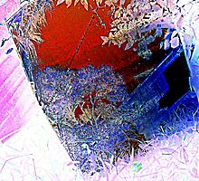 red and blue, through the glass by Isitart