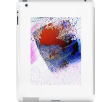 red and blue, through the glass iPad Case/Skin
