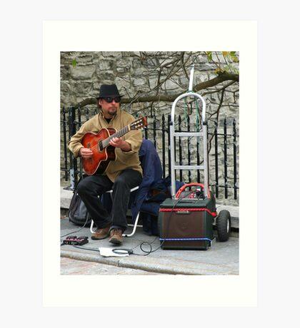 Street Musician in Old Quebec City Art Print