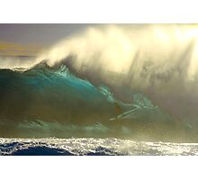 Marti Paradisis in a huge barrel on the East Coast Photographic Print
