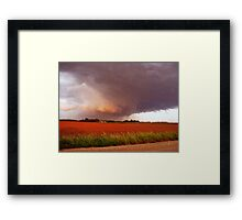 Rotation In The Storm Framed Print