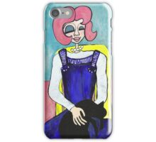 Wildago's Pearl with a Black Cat iPhone Case/Skin