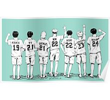 BANGTAN BOYS - Name Shirts  Poster
