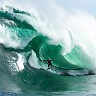 A massive barrel at Shipstern Bluff by andychiz