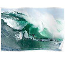 A massive barrel at Shipstern Bluff Poster