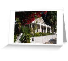 A Conch House in Key West, Florida Greeting Card