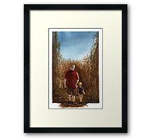 Corn Maze Framed Print