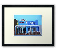 Rod Bending's and Cafe Tsunami Framed Print