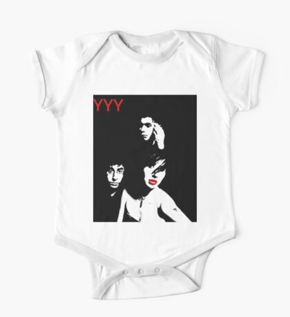 Yeah Yeah Yeahs in Black and White One Piece - Short Sleeve