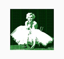 Marilyn Monroe in white dress with Green text Unisex T-Shirt