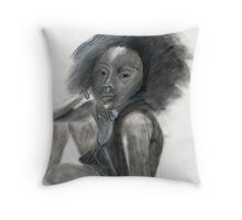 feeling sexy and free Throw Pillow