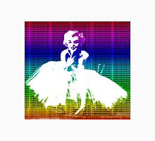 Marilyn Monroe in white dress with multicolour text Unisex T-Shirt