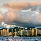 Honolulu Skyline by Cheryl  Lunde