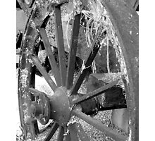 Old Chaffcutter wheel Photographic Print