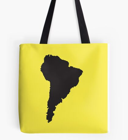 South America simple shape map Tote Bag