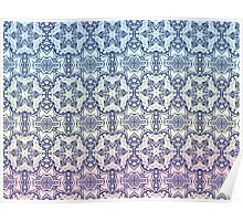Blue Star pattern Poster