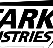 Stark Industries-Black Sticker