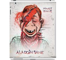 Howdy, Bowie, Art, Howdy Doody, David Bowie, Aladdin Sane, Ziggy Stardust, Illustration, Poster, Picture, puppet, marionette, children's, child, tv show, David Robert Jones, joe badon iPad Case/Skin