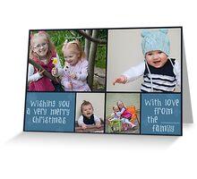 Blue Snowflake Christmas Card Design Greeting Card