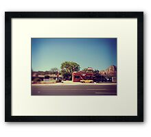 A Cool Yellow Car Framed Print